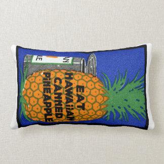 Vintage Hawaiian Pineapple Lumbar Pillow