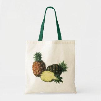 Vintage Hawaiian Pineapples, Organic Food Fruit Tote Bag