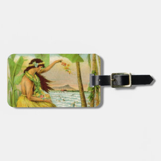 Vintage Hawaiian Travel Bag Tag