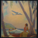 "Vintage Hawaiian Travel - Hawaii Girl Dancer Napkin<br><div class=""desc"">Vintage Hawaiian Travel - Hula Girl Dancer - Airplane &amp; Beach. &#39;Where Progress and Romance Meet&#39;, by Ruehl Frederick Heckman. vintage, retro, hawaii, hawaiian, polynesian, exotic, travel, airplane, plane, aloha, world famous places, art, artwork, painting, hula girl dancer aloha beach, world famous places region picture, island tribal people art artwork,...</div>"