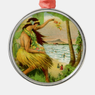 Vintage Hawaiian Travel Metal Ornament
