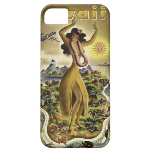Vintage Hawaiian Travel Poster iPhone 5 Cases