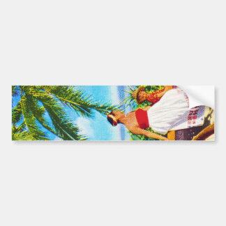 Vintage Hawaiian Vacation Bumper Sticker