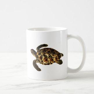 Vintage Hawksbill Sea Turtle Art Mug