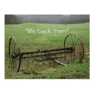 Vintage Hay Rake- customize Postcard