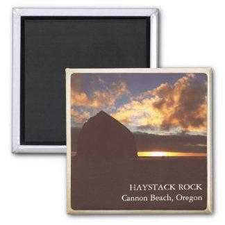 Vintage Haystack Rock Oregon 2 inch Magnet