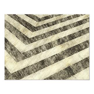 Vintage Hazard Stripes Card