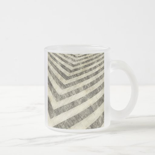 Vintage Hazard Stripes 10 Oz Frosted Glass Coffee Mug