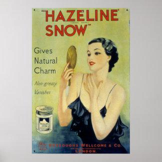 Vintage Hazeline Snow Makeup Lotion Poster
