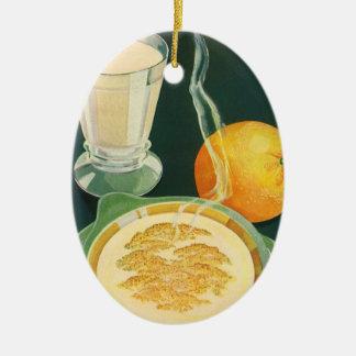 Vintage Health Foods, Beverages, Healthy Breakfast Ceramic Ornament