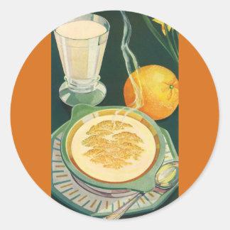 Vintage Health Foods, Beverages, Healthy Breakfast Classic Round Sticker