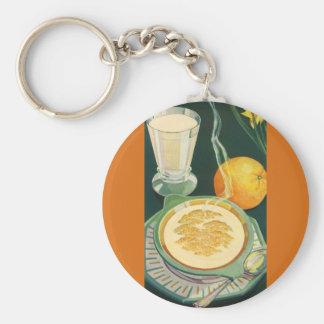 Vintage Health Foods, Beverages, Healthy Breakfast Keychain