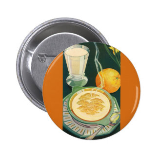 Vintage Health Foods, Beverages, Healthy Breakfast Pinback Button