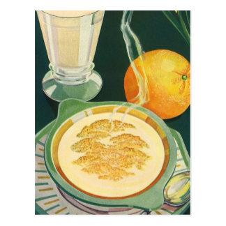 Vintage Health Foods, Beverages, Healthy Breakfast Postcard