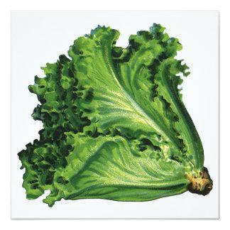 Vintage Health Foods Green Leaf Lettuce Inviation Card