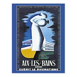 Vintage Health spa Aix-Les-Bains France ad Postcard