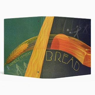 Vintage Healthy Foods, Whole Grain Wheat Bread 3 Ring Binder