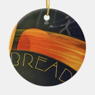 Vintage Healthy Foods, Whole Grain Wheat Bread Ceramic Ornament