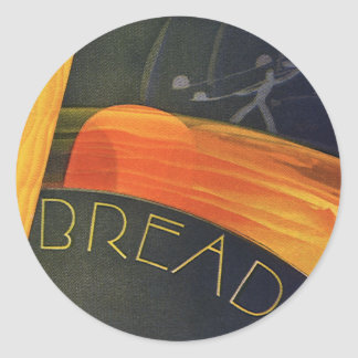 Vintage Healthy Foods, Whole Grain Wheat Bread Classic Round Sticker