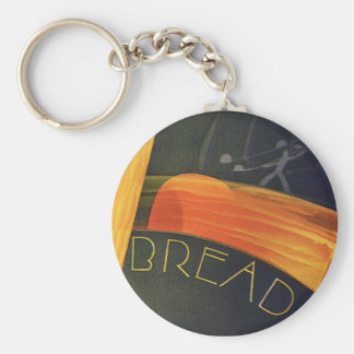Vintage Healthy Foods, Whole Grain Wheat Bread Key Chains