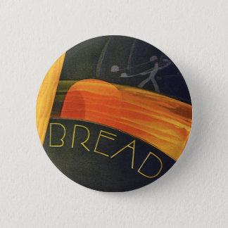 Vintage Healthy Foods, Whole Grain Wheat Bread Pinback Button