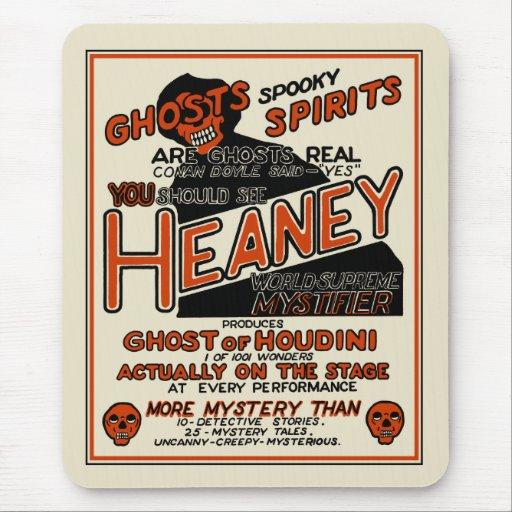 Vintage Heaney Spook Show Poster Mousepad