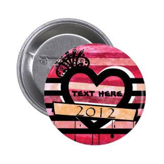 vintage heart 2012 pin