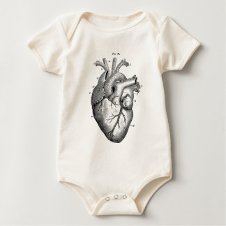 Vintage Heart Anatomy | Customizable Baby Bodysuit