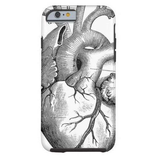 Vintage Heart Anatomy | Customizable iPhone 6 Case