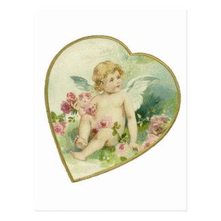 Vintage Heart and Cherub - Mother's Day/Valentine Postcard