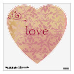 Vintage Heart and Love Wall Decal