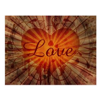 Vintage Heart and Vines Love Valentine's Day Postcard