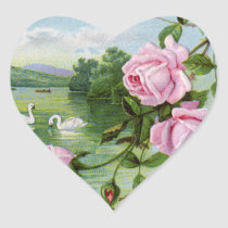 Vintage Heart Birthday Stickers