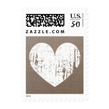 Valentines Themed Vintage heart burlap country chic wedding stamps