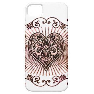 vintage heart iPhone 5 case