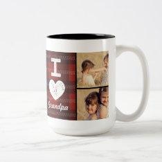 Vintage Heart Custom Photo Mug at Zazzle