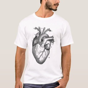 heart diagram clothing zazzle Gothic Heart vintage heart drawing t shirt