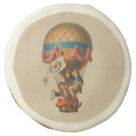 Vintage Heart Flag Hot Air Balloon Sugar Cookie