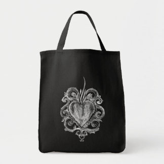 Vintage Heart Handbag Tote Bag