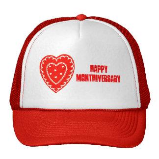 Vintage Heart Happy Monthiversary 1 Month Love Hat