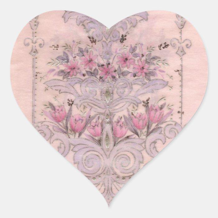 Vintage Heart Heart Sticker