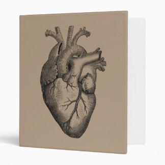 Vintage Heart Illustration Vinyl Binders