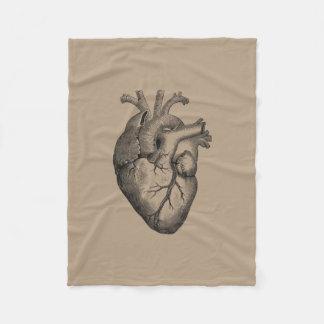 Vintage Heart Illustration Fleece Blanket
