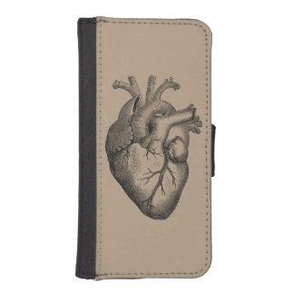 Vintage Heart Illustration iPhone SE/5/5s Wallet