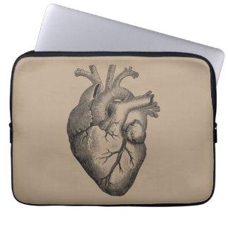 Vintage Heart Illustration Laptop Sleeve