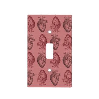 Vintage Heart Illustration Light Switch Cover