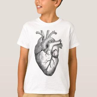 Vintage Heart Illustration T-Shirt