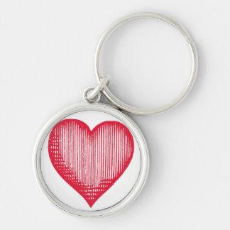 Vintage Heart Keyring Key Chain