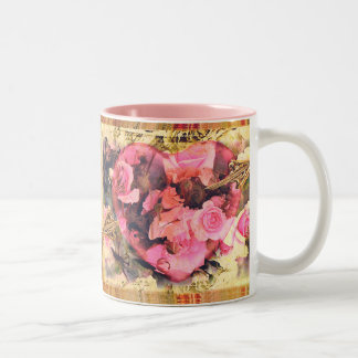 Vintage Heart n' Roses Valentine Gift Mugs