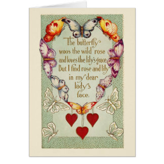 Vintage Heart of Butterflies Cards